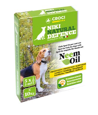 Niki Natural Defence Cane fino a 10 kg Spot-On Neem per CANI | cod. 8023222189379