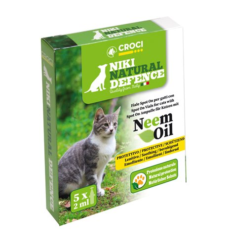 Niki Natural Defence Gatto Spot-On Neem 5x2ml