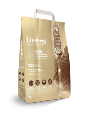 Lindocat Lettiera Biodegradabile Advanced Tofu +  per GATTI | cod. 8006455004053